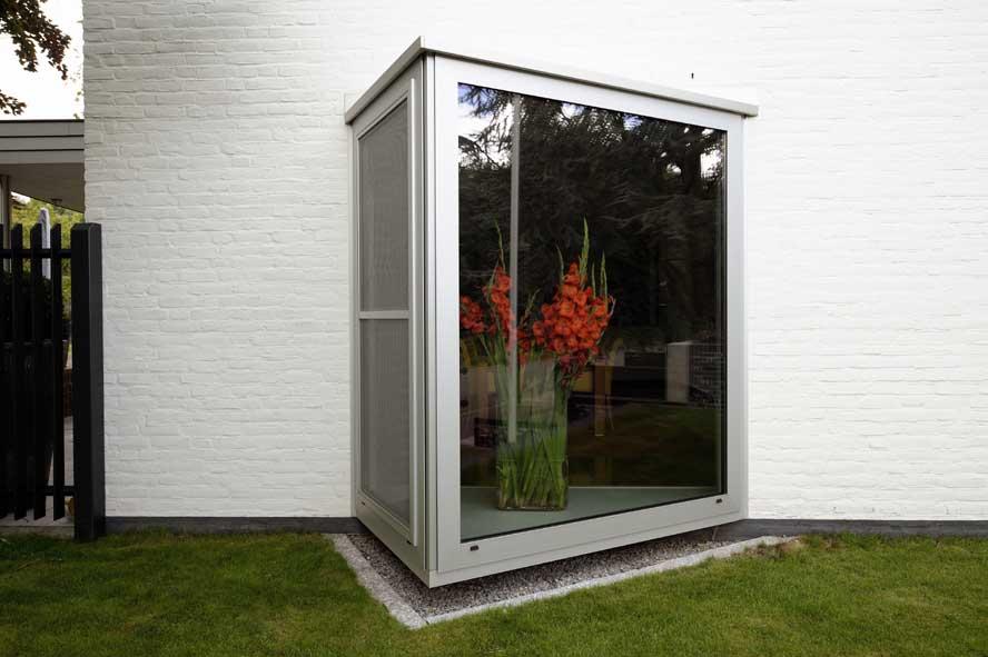 Nieuwbouw, aluminium voordeur kozijnen lichtstraat zonwering, Roermond (4)