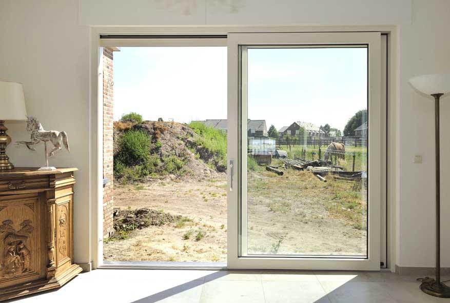 Nieuwbouw, kunststof kozijnen hefschuifpui, Egchel (4)