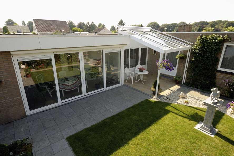Renovatie, aluminium garagedeuren hefschuifpui overkapping zonwering, Helden (5)