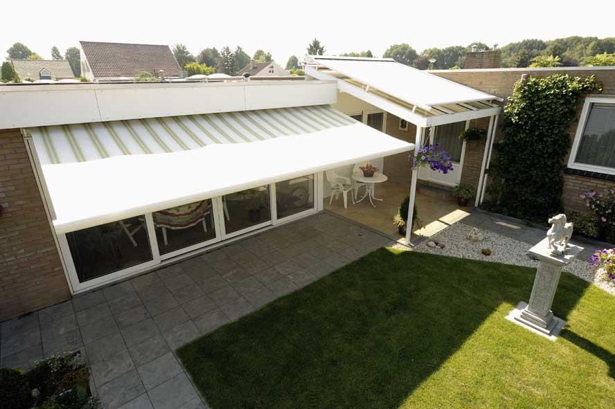 Renovatie, aluminium garagedeuren hefschuifpui overkapping zonwering, Helden (6)