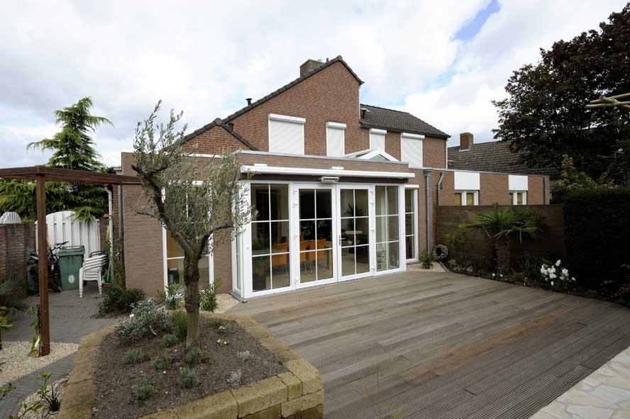 Renovatie, aluminium lichtstraat openslaande tuindeuren zonwering, Stevensweert (7)