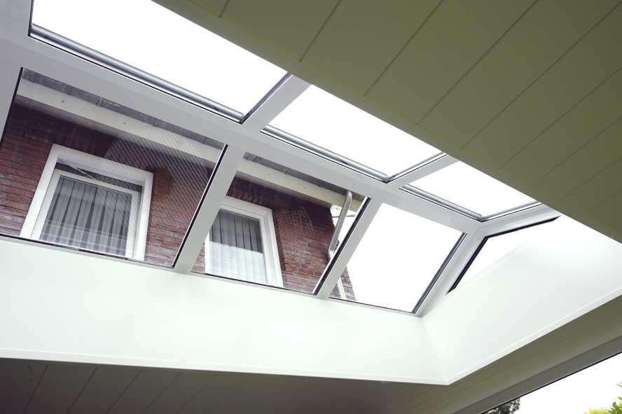Renovatie, aluminium overkapping lichtstraat, Echt (6)