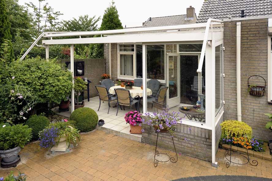 Renovatie, aluminium overkapping zonwering, Venlo (3)