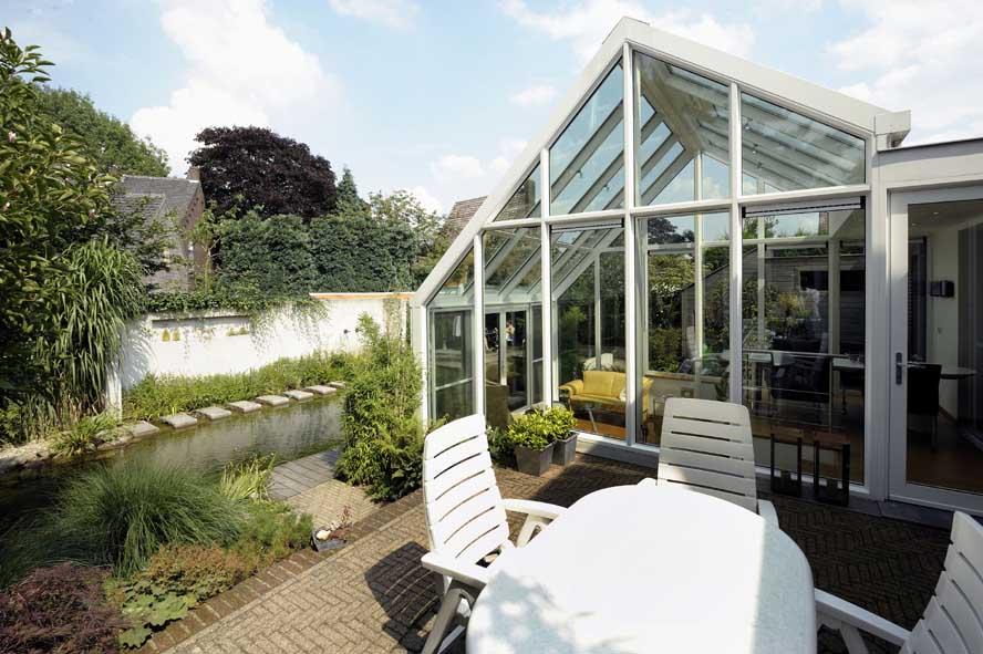 Renovatie, aluminium serre openslaande tuindeuren, Helden (1)