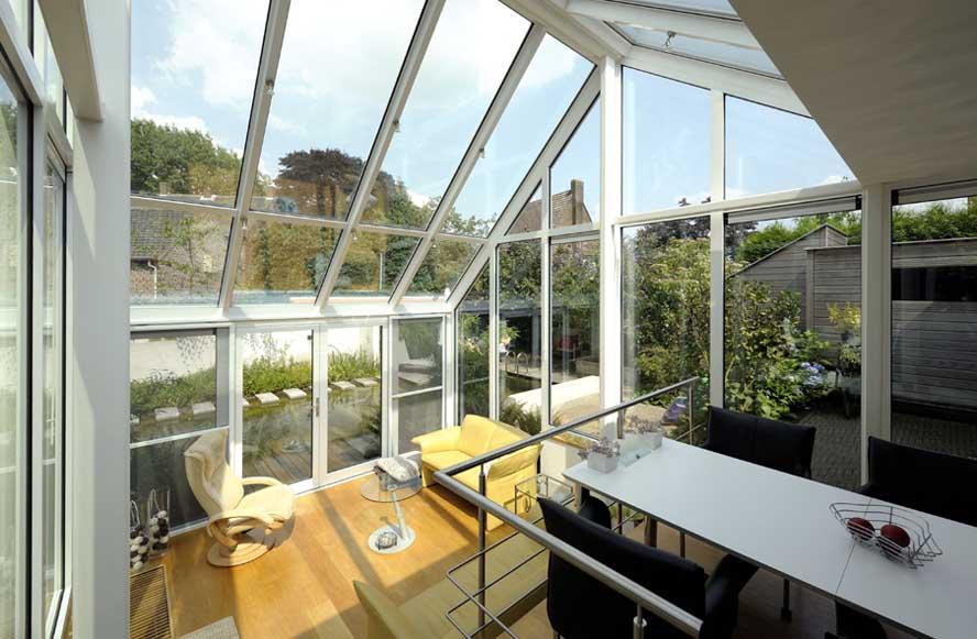 Renovatie, aluminium serre openslaande tuindeuren, Helden (2)