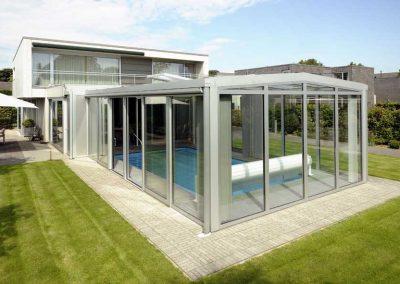 Renovatie, aluminium serre en serrezonwering in Roermond