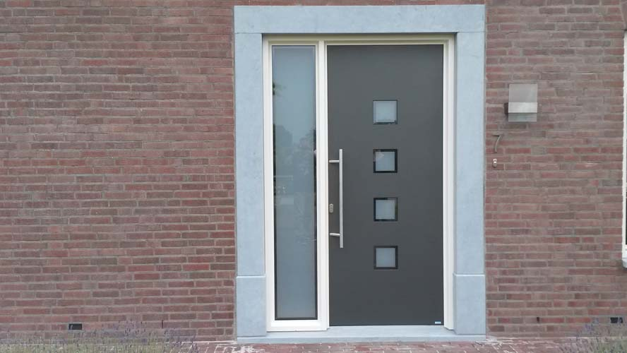 Renovatie, aluminium voordeur, Ell (1)
