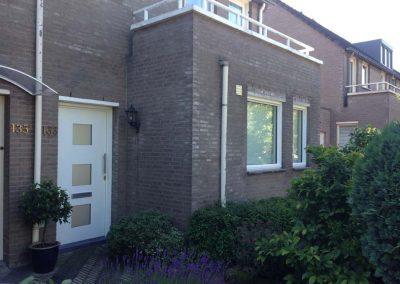 Renovatie, aluminium voordeur en kozijnen in Den Bosch