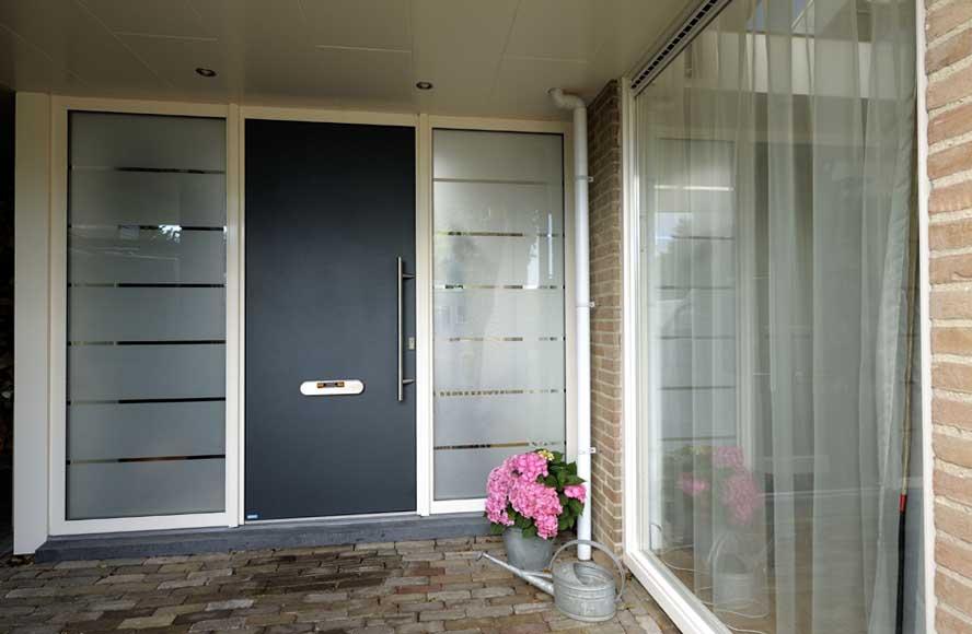 Renovatie, aluminium voordeur hefschuifpui kozijnen, Lith (3)