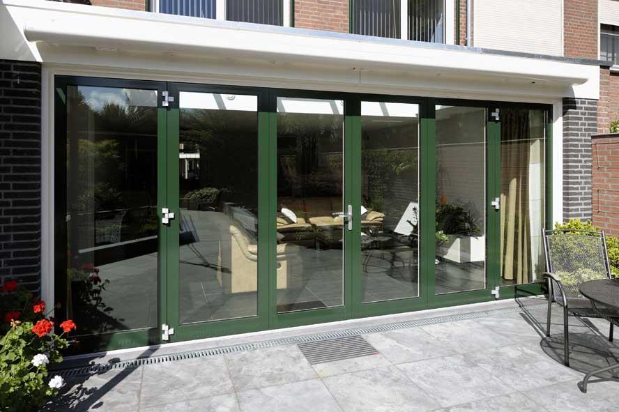 Renovatie, aluminium vouwwand lichtstraat kozijnen voordeur, Panningen (1)