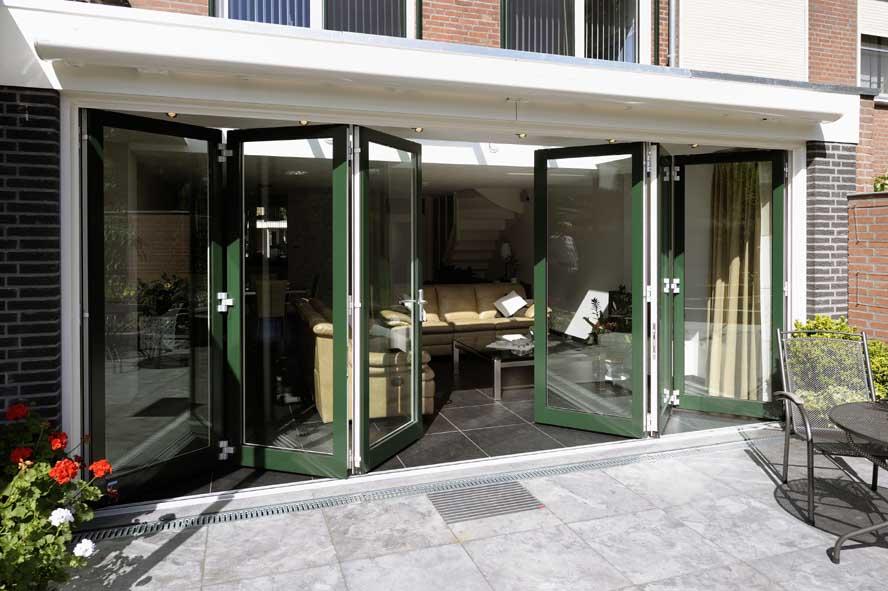 Renovatie, aluminium vouwwand lichtstraat kozijnen voordeur, Panningen (2)