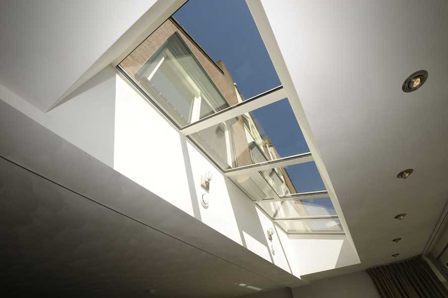 Renovatie, aluminium vouwwand lichtstraat kozijnen voordeur, Panningen (4)