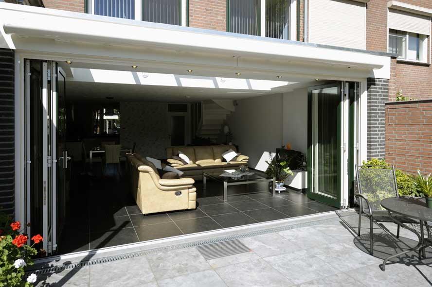 Renovatie, aluminium vouwwand lichtstraat kozijnen voordeur, Panningen (9)