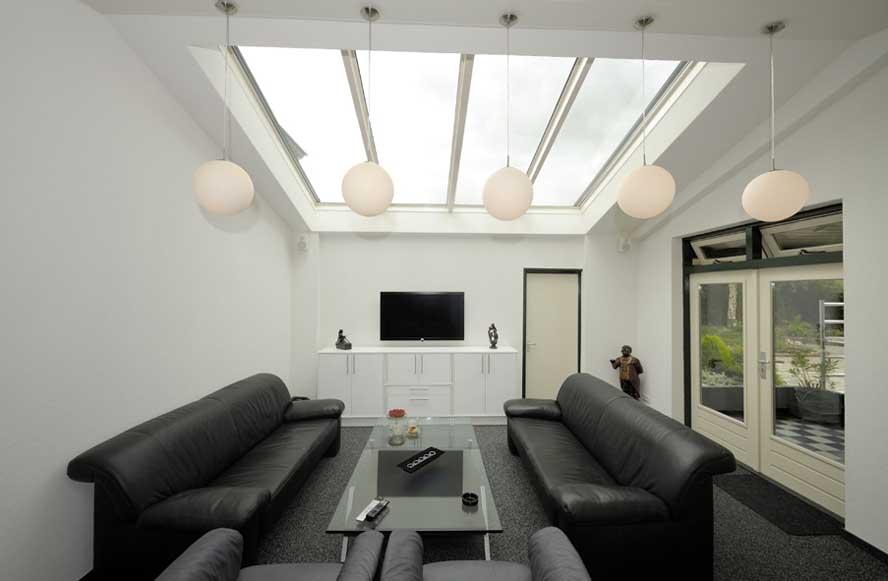 Renovatie, zonwering aluminium lichtstraat, Linne (2)