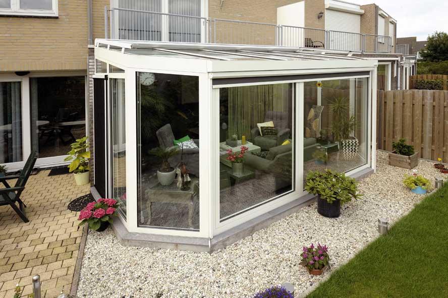 Renovatie, zonwering aluminium serre, Oud Heusden (2)