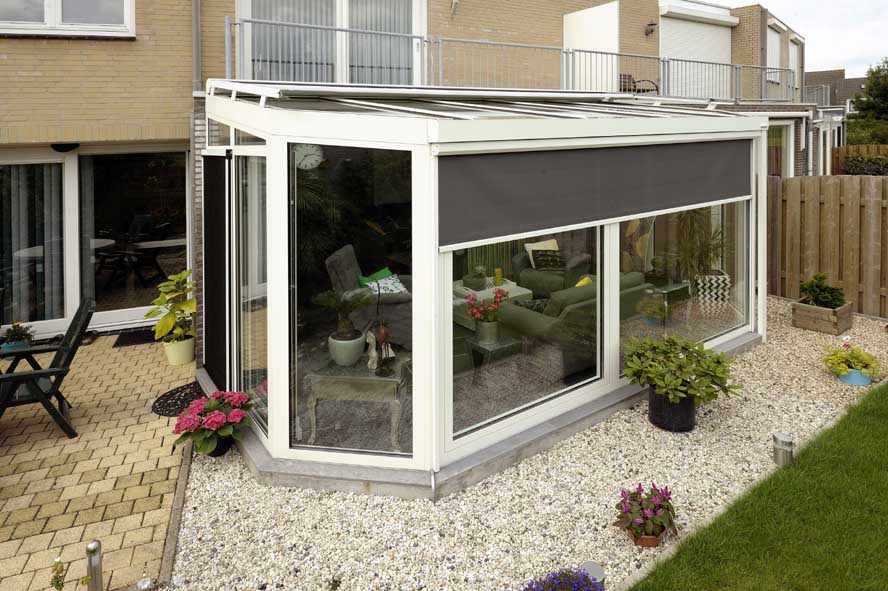 Renovatie, zonwering aluminium serre, Oud Heusden (3)