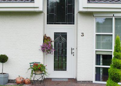 Renovatie, aluminium voordeur in Meijel