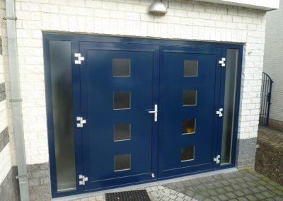 Renovatie, aluminium garagedeur, Stramproy