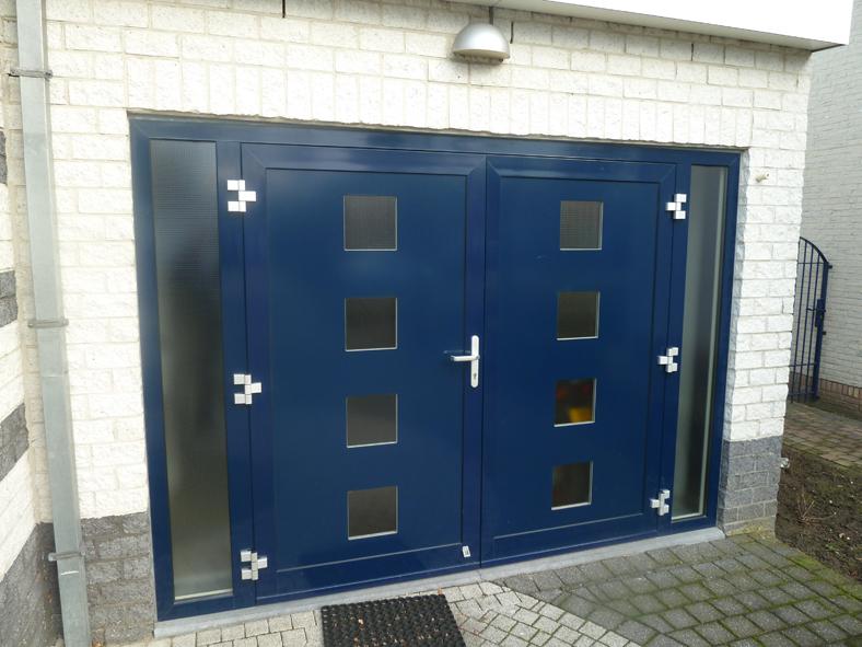 Renovatie, aluminium garagedeuren, Stramproy