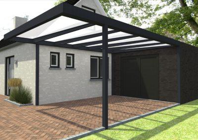 Renovatie, Quadro, modulaire overkapping, aluminium, carport