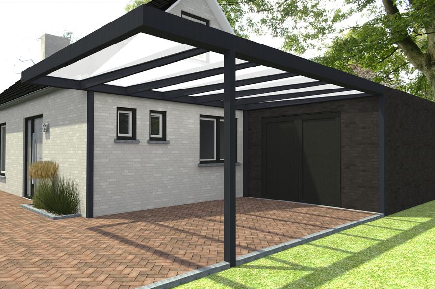 Quadro, modulaire overkapping, aluminium, carport (2)