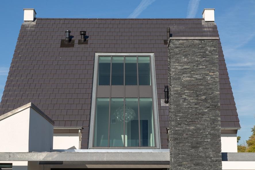 Nieuwbouw, aluminium kozijnen, aluminium deuren, serredak, screens, rolluiken in Deurne (2)