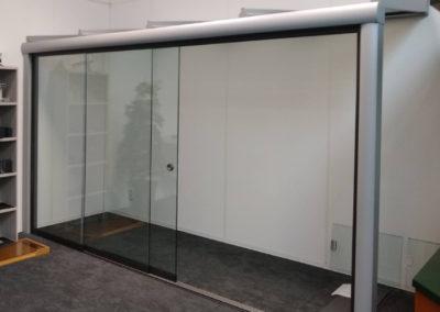 Overkapping inclusief glazen schuifwand