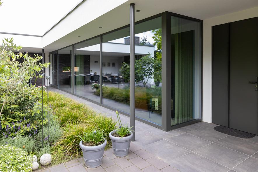 Nieuwbouw, aluminium kozijnen, aluminium deuren in Deurne (17)
