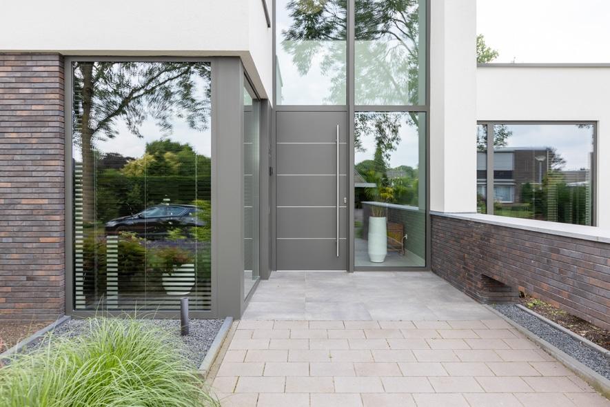 Nieuwbouw, aluminium kozijnen, aluminium deuren in Deurne (3)