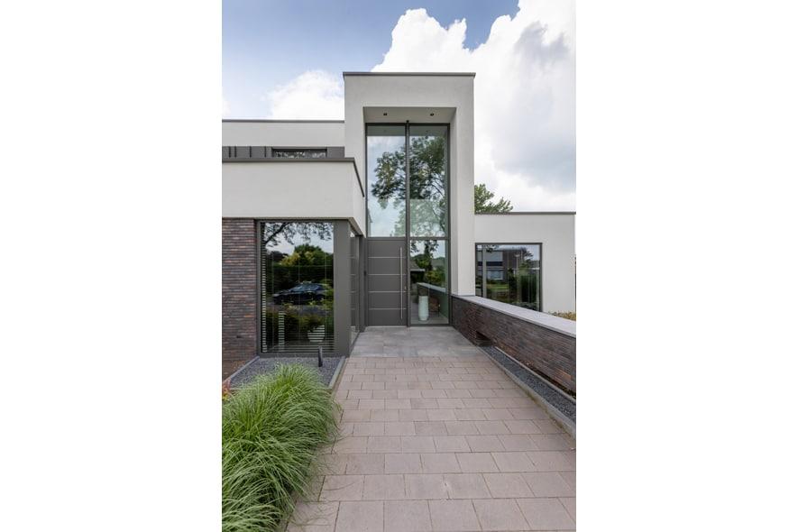Nieuwbouw, aluminium kozijnen, aluminium deuren in Deurne (4)